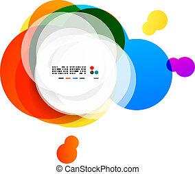 Abstract rainbow circles modern background