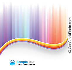 Rainbow colorful Background for Business Flyer