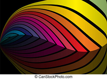 Abstract rainbow colorful lines