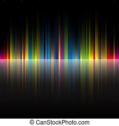 abstract rainbow colors black background - The beautiful...