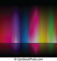 Abstract rainbow colours 4 - Abstract rainbow colours on a...