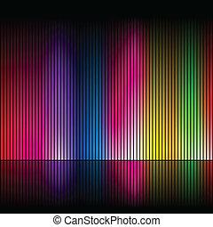 Abstract rainbow colours 4 - Abstract rainbow colours on a...