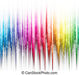 Abstract rainbow colours on a white background spectrum