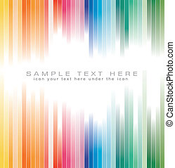 Rainbow Colours Striped background for Brochure - Abstract...