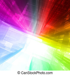 Abstract rainbow concept