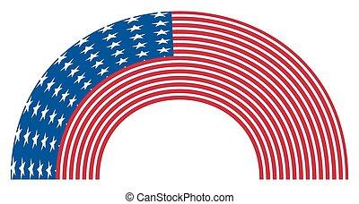 Rainbow Curve USA Flag
