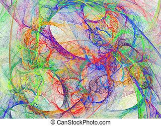 abstract rainbow design