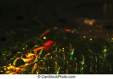 abstract rainbow drops background