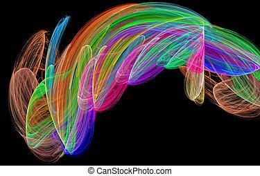 abstract rainbow figure diversity