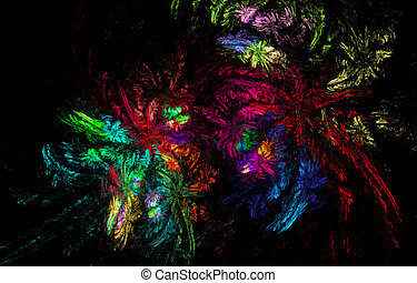 abstract rainbow flowers heap, carnival diversity