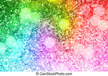 Abstract rainbow gold glitter background