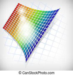 Abstract rainbow grid