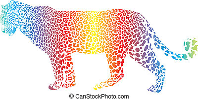 Abstract rainbow leopard