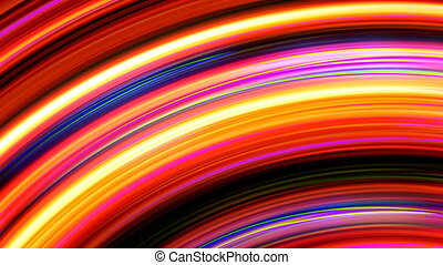 Abstract Rainbow Light Streaks Loop