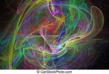 abstract rainbow line heap