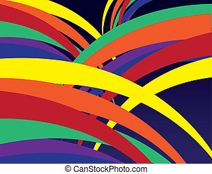 Abstract Rainbow Lines - Abstract rainbow lines background...