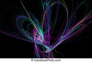 abstract rainbow lines diversity
