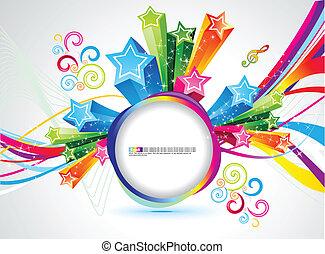 abstract rainbow magic circle vector illustration