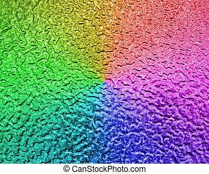 abstract rainbow metallic surface, closeup metal background