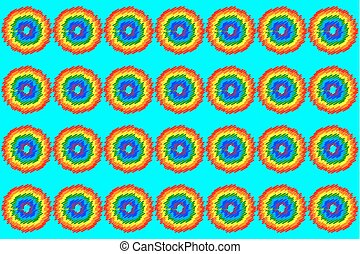Abstract rainbow on blue background