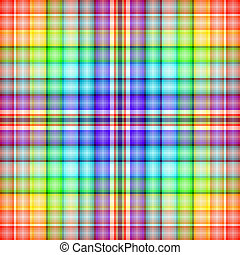 Abstract rainbow seamless tartan pattern