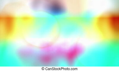 """Abstract Rainbow Soft Focus Backdrop"" - ""A psychedelic 3d..."