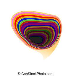 Abstract rainbow speech bubble background