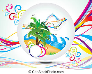 abstract rainbow summer holiday background