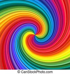 Abstract rainbow swirl