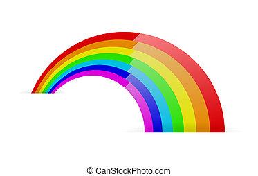 Abstract rainbow symbol