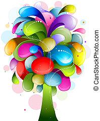 Abstract Rainbow Tree