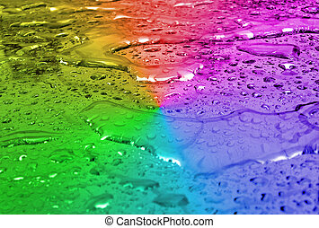 abstract rainbow water surface, weather details