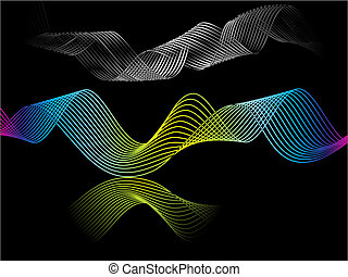 abstract rainbow wave