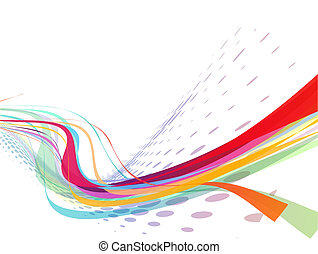 abstract rainbow wave line