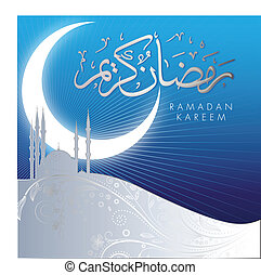 Abstract Ramadan Kareem celebration design with arabic calligraphy