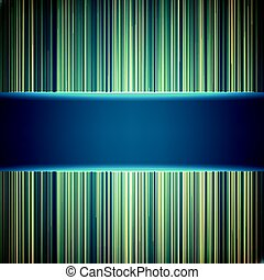 Abstract random green glowing lines background. Colorful stripes. Technological cyberspace background.