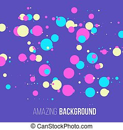 Abstract randomly dotted colorful background. Vector illustration.