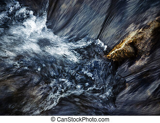 abstract rapids of the river