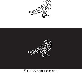 Abstract Raven Logo Idea