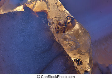 Abstract raw mineral blue crystal texture material of Gem.-3
