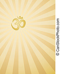 background with Om sign