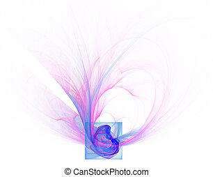 abstract rectangle - rectangle and wave lines - abstract...