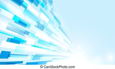 Abstract rectangles motion technology  concept background