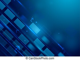 Abstract rectangles motion technology digital concept background