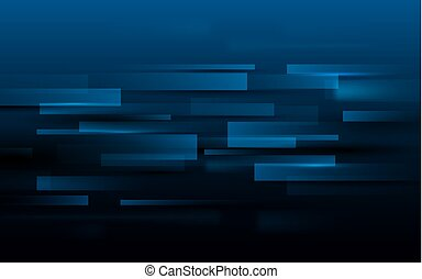 Abstract rectangles technology digital hi tech concept on dark blue background