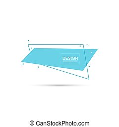 Abstract rectangular banner with lines. Vector textbox