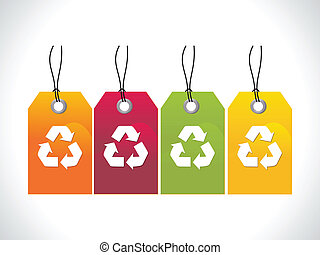 abstract recycle tag vector