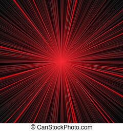 Abstract red and black stripes burst background