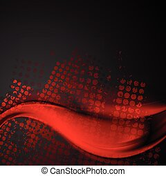 Abstract red and black wavy grunge background