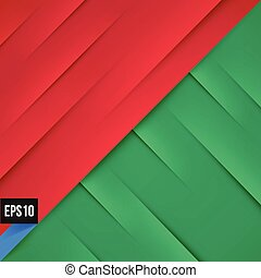 Abstract red and green background with lights and shadows